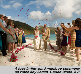 Beach Wedding at Guana Island